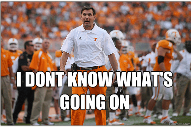 dooley meme 610x407 popular tennessee football memes from recent years