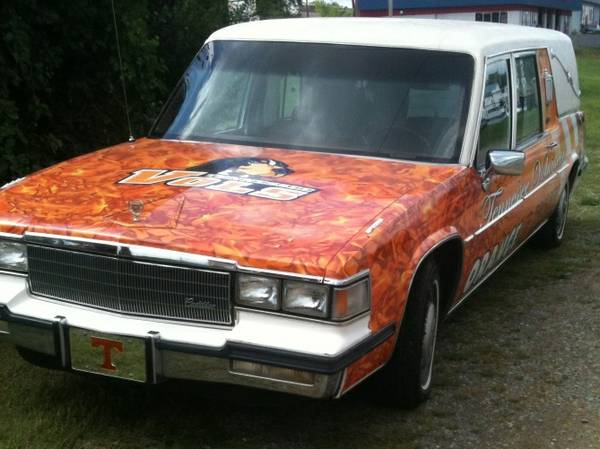 Photos: Tennessee fan turns hearse into ultimate ...