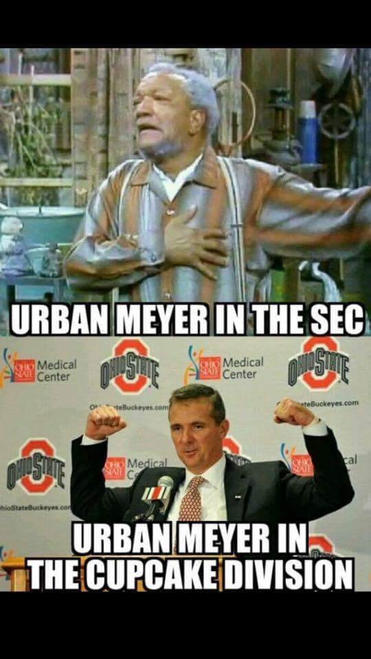 Urban Meyer cupcakes MEME sec's best memes for week 7