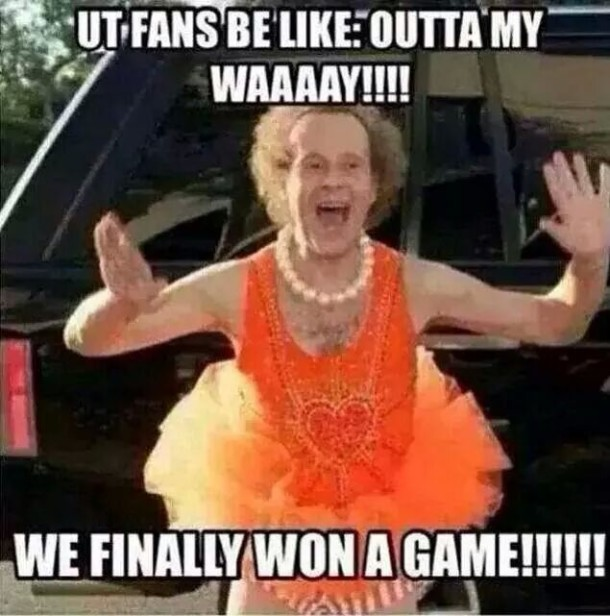 UT fans Richard Simmons MEME