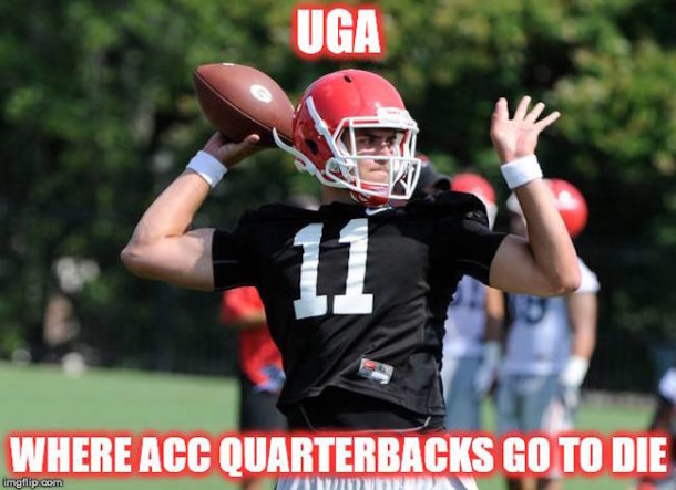 UGA ACC QBs Come to Die MEME