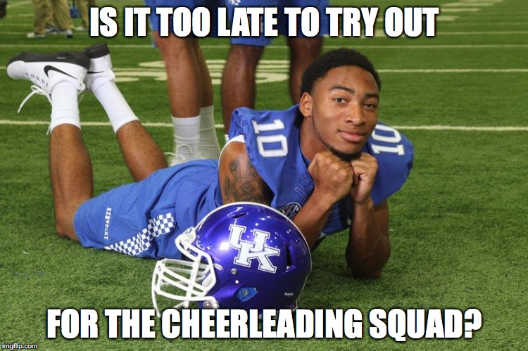 Kentucky cheerleading MEME best kentucky football memes from the 2015 season