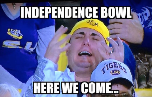 LSU Independence Bowl MEME