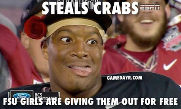 Jameis Winston Steals Crabs MEME