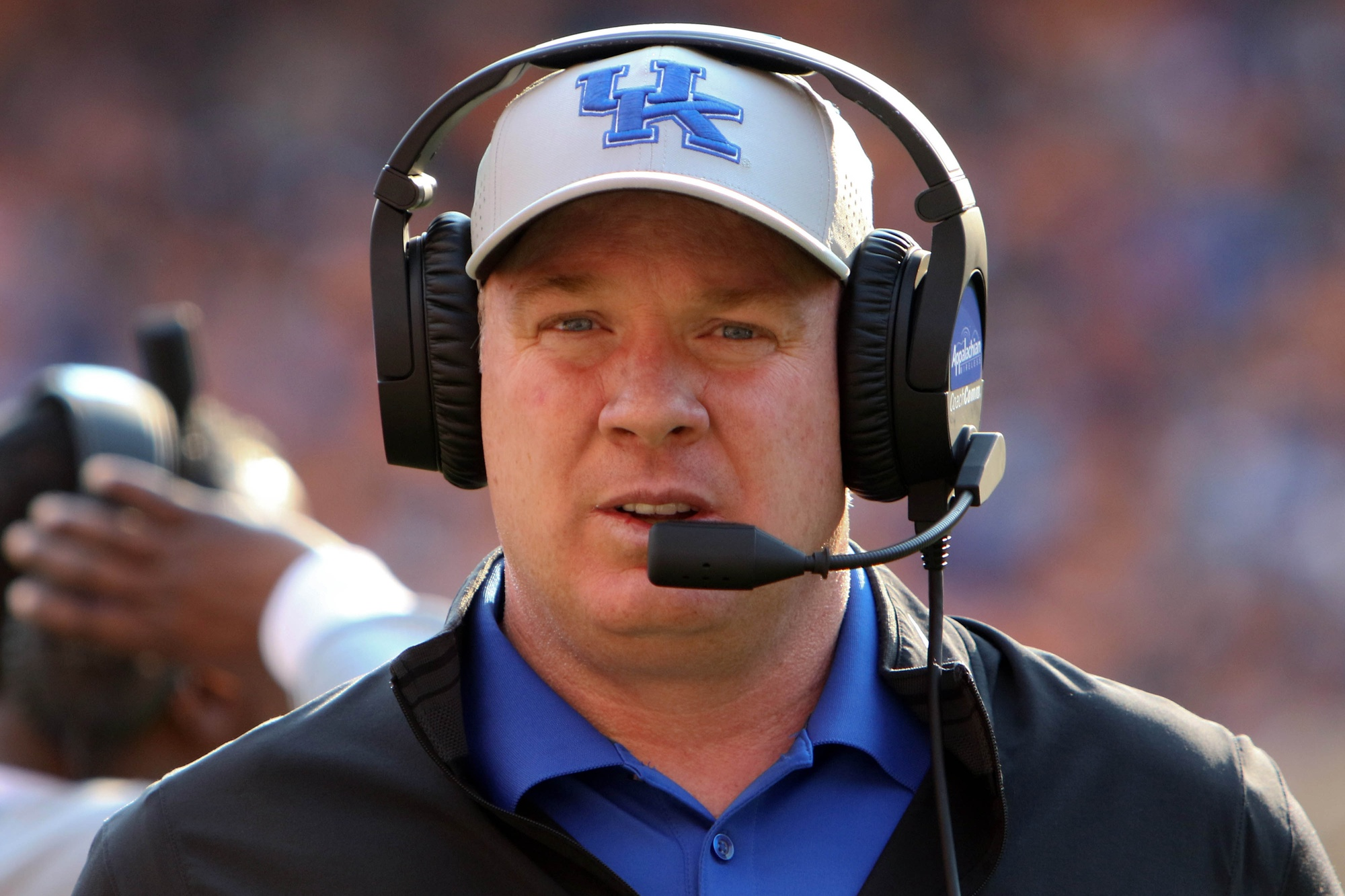 Nov 12, 2016; Knoxville, TN, USA; Kentucky Wildcats head coach Mark Stoops during the third quarter against the Tennessee Volunteers at Neyland Stadium. Mandatory Credit: Randy Sartin-USA TODAY Sports