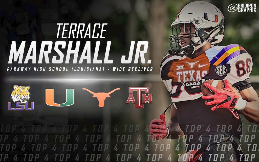 Nation 39 s no 1 wr terrace marshall lists 2 sec schools in for Terrace marshall