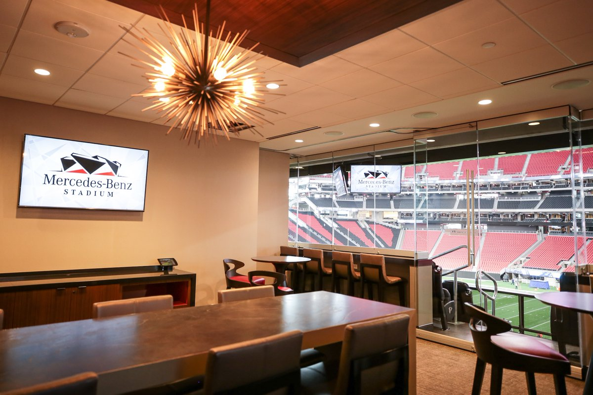Look worth the cost suite for national championship game for Club level mercedes benz stadium