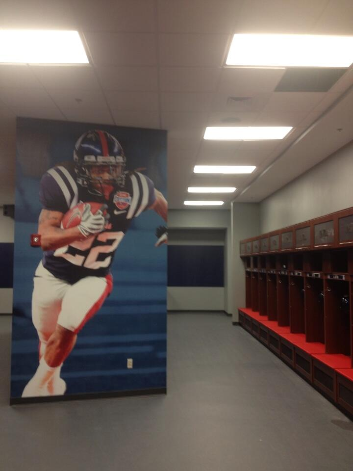 Photos Ole Miss Unveils New Locker Room Saturday Down South