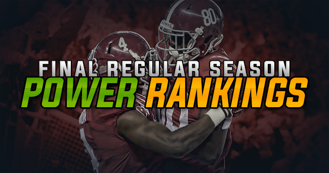 SEC Power Rankings: Final regular season edition