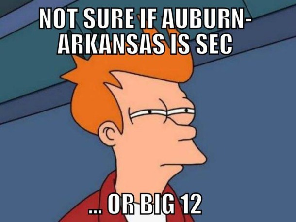 Aub Ark Big 12 MEME