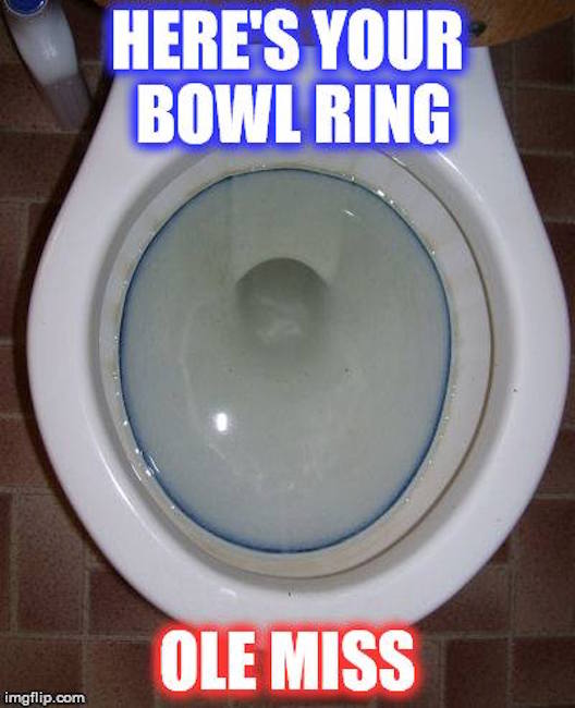 Ole Miss Bowl Ring MEME