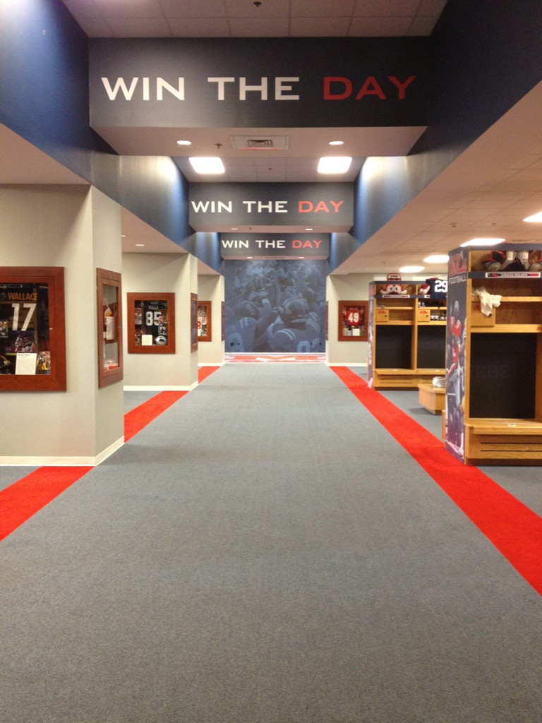 A Look Inside The Sec S Football Locker Rooms