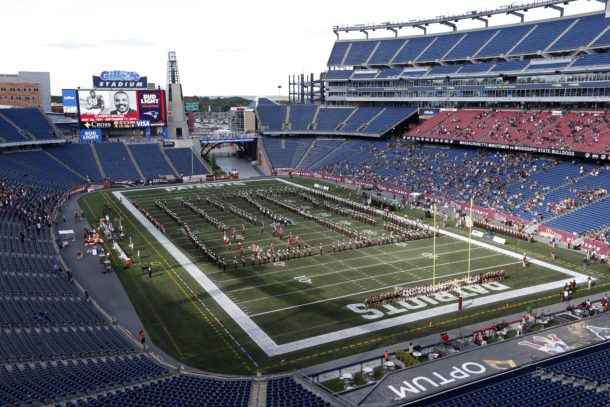 Sep 24, 2016; Foxborough, MA, USA; A general view of Gillette Stadium prior to the game between the Mississippi State Bulldogs and the Massachusetts Minutemen. Mandatory Credit: Greg M. Cooper-USA TODAY Sports