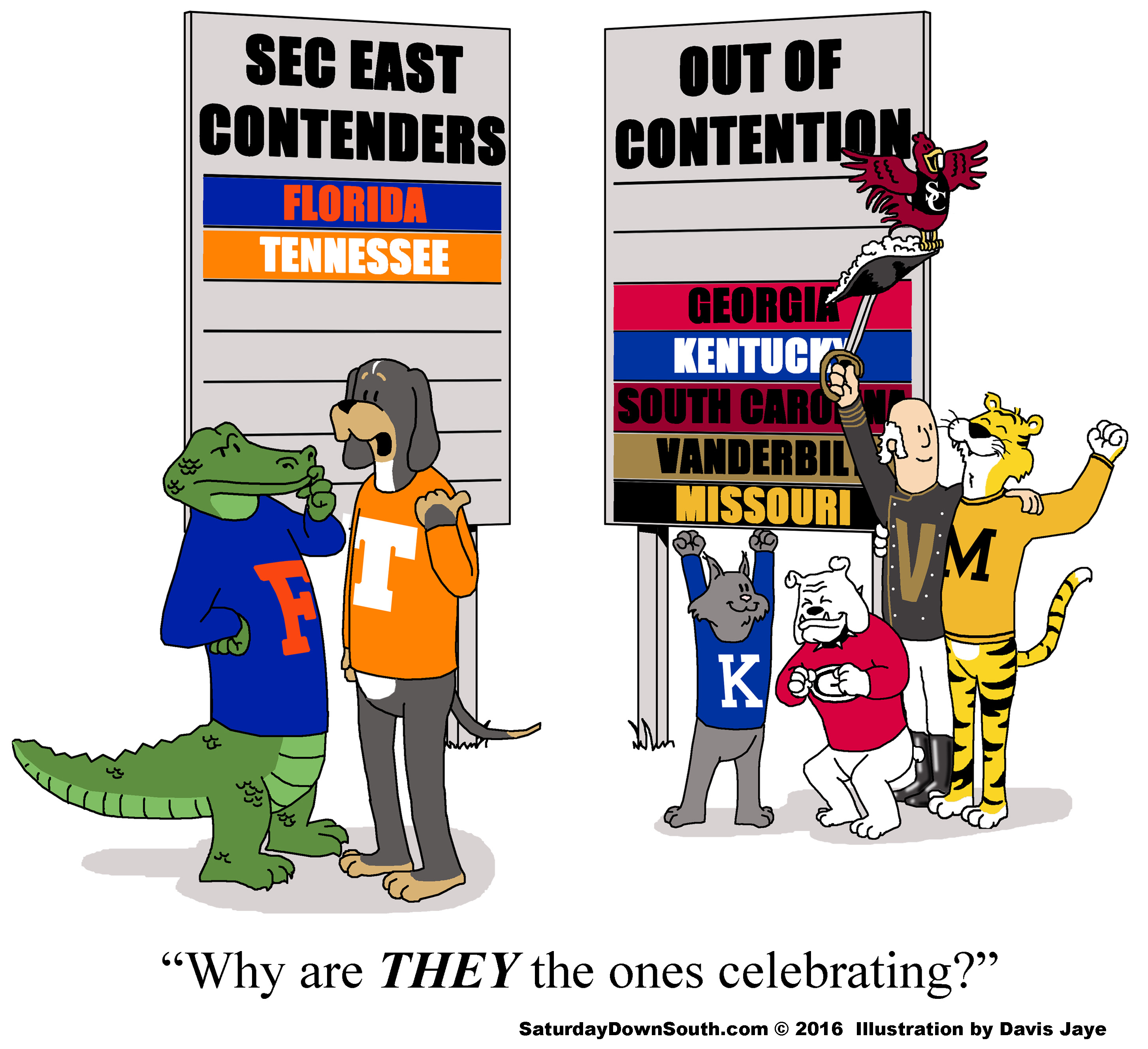 These 8 Comics Perfectly Illustrate The 2016 Sec East Race
