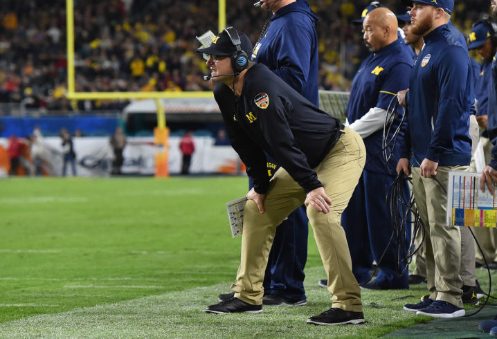 Jim Harbaugh fires back at Bradon Jacobs following moronic comments