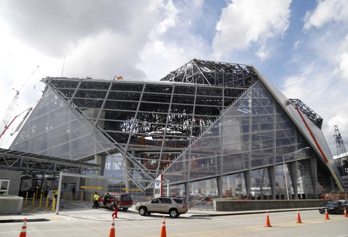 Photos latest view inside atlanta 39 s mercedes benz stadium for Mercedes benz stadium season tickets