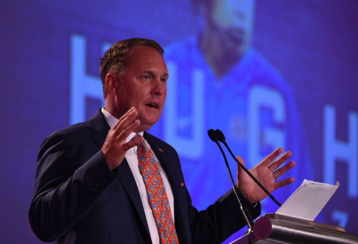 Hugh Freeze mum on lawsuit at SEC Media Days