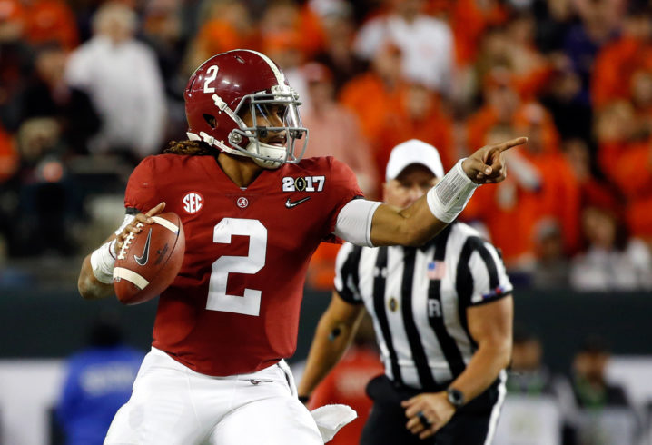 Jalen Hurts gives updates on family's status during Hurricane Harvey