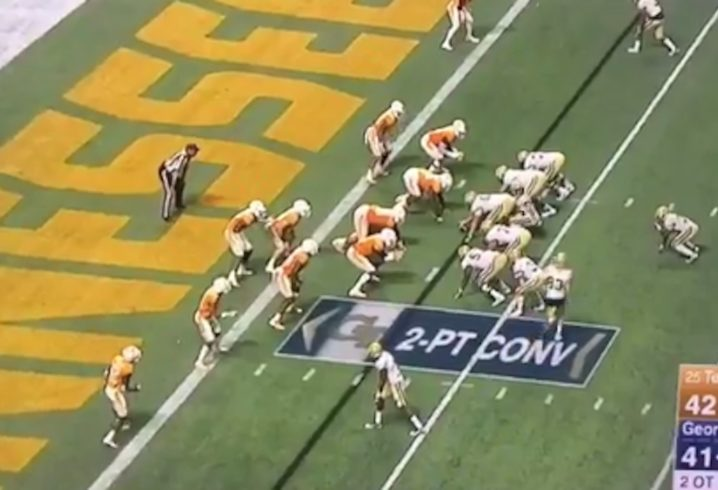 Tennessee guesses right on final 2-point attempt, topples Georgia Tech