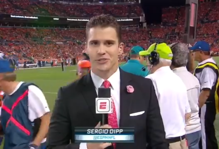 Sergio Dipp hopes to have another chance on 'Monday Night Football'