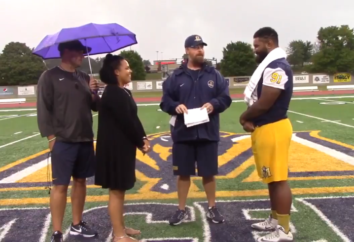 Murray State assistant marries player, fiancee in spectacular ceremony after practice