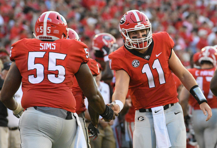 Kirby Smart discusses Georgia QB Jacob Eason's performance in Tuesday's practice