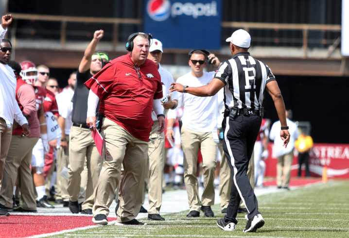 Arkansas' Bret Bielema on TCU loss