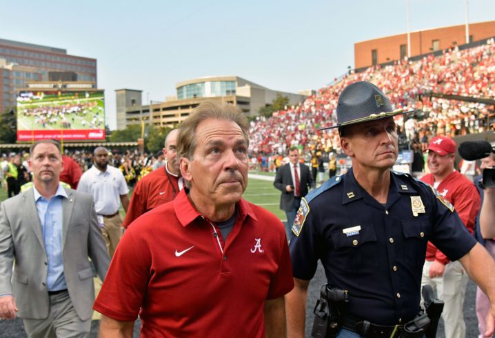 Alabama coach Nick Saban not wanting Tide to relax