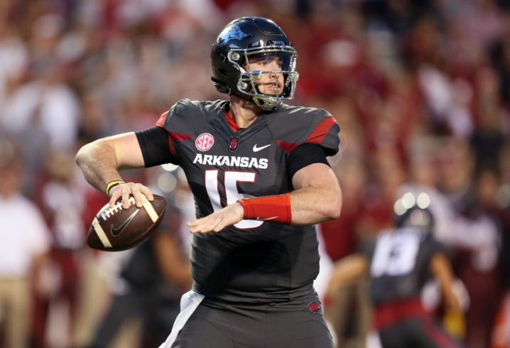 Arkansas quarterback arrested on suspicion of DWI and careless driving