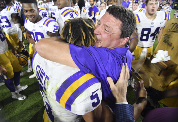 LSU win streak allows Orgeron to relax -- until Alabama game