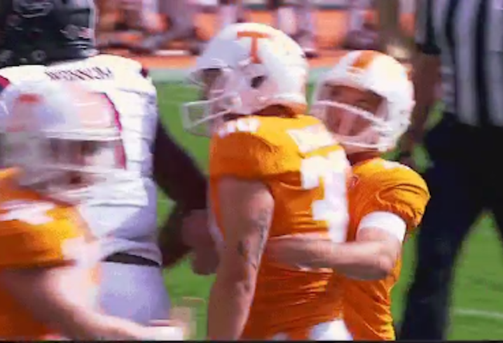 SC fans wear 'Keep Butch Jones' shirts at Tennessee game