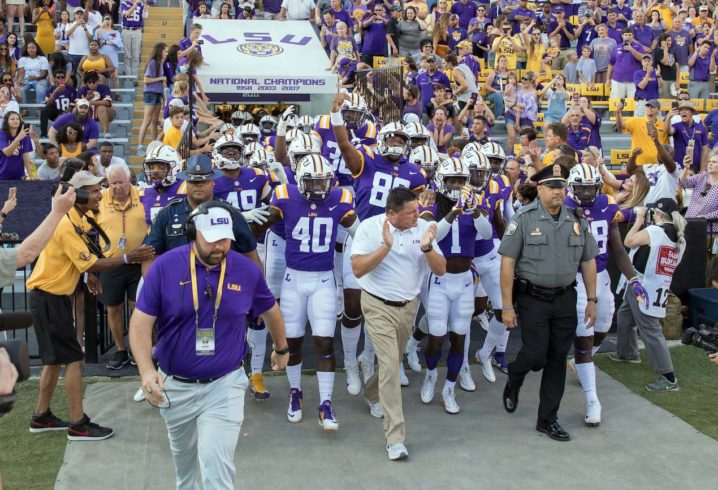 LSU's Ed Orgeron, coordinators, AD 'on the same page' after Troy shocker