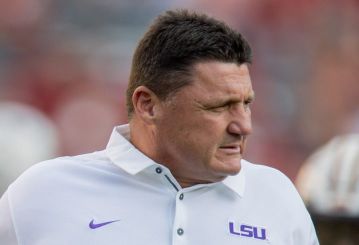 Ed Orgeron's favorite Oxford memory? Chicken on a stick