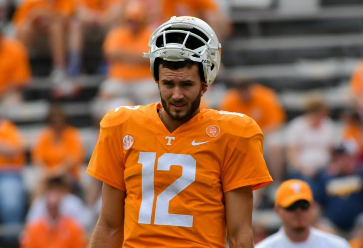 Tennessee backup QB Quinten Dormady not making trip to Kentucky