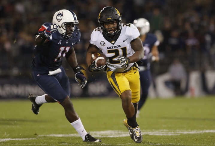 Lock Throws for 5 TDs as Missouri Routs UConn 52-12