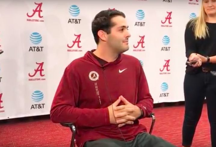 Nick Saban cracked himself up while talking about ripped jeans