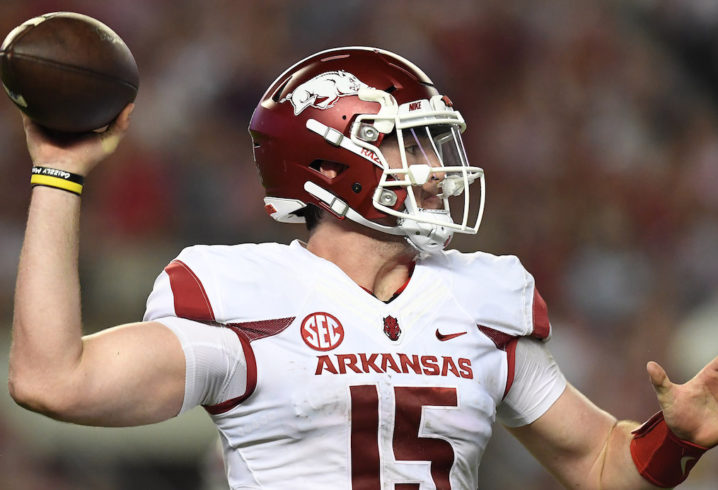 Arkansas QB Cole Kelley Suspended Indefinitely After DWI Arrest