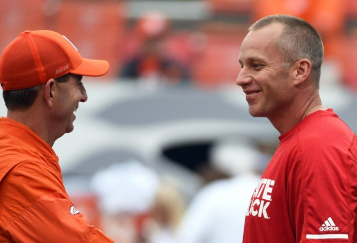 Clemson head coach Dabo Swinney swipes back at Doeren, NC State