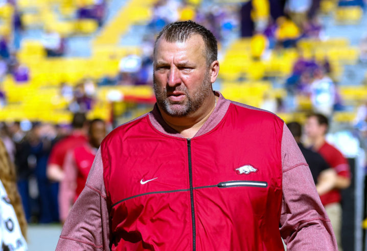 Arkansas fires Bret Bielema moments after season-ending loss to Missouri