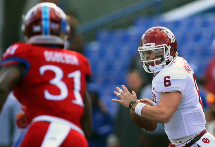 Baker Mayfield will play but not start Oklahoma's game against West Virginia