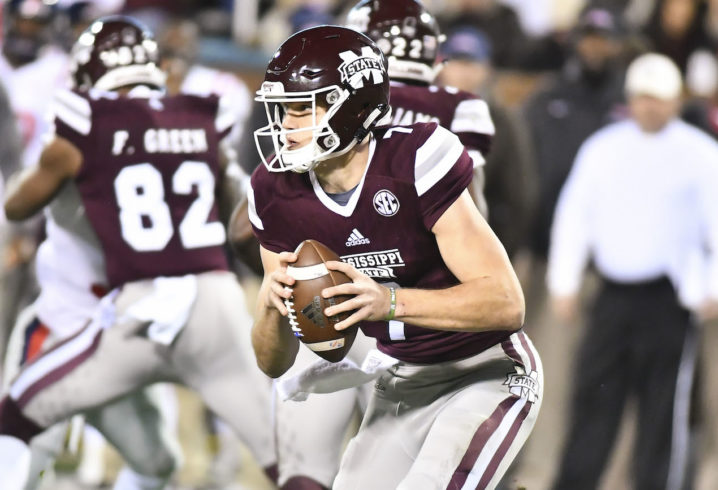 Mississippi State QB suffers gruesome leg injury in Egg Bowl