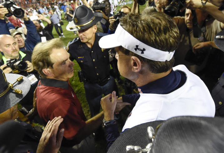 Saban, Malzahn and Clark named semifinalists for Coach of the Year award