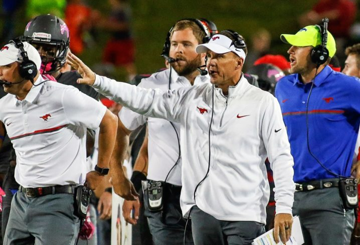 With influential support, SMU coach Chad Morris is now Arkansas' top target