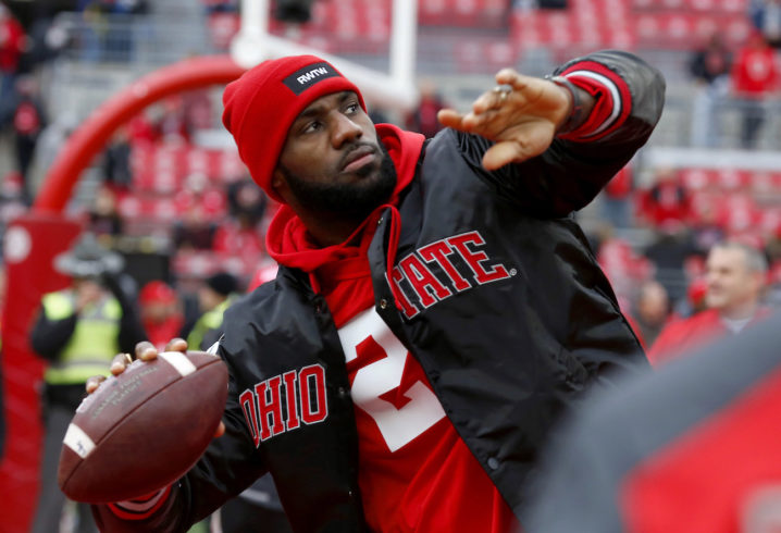 LeBron James responds to Ohio State's exclusion from the College Football Playoff