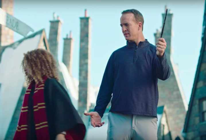 Peyton Manning Goes on Vacation in Universal Parks' Super Bowl Ad