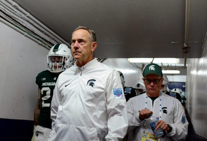 JUST IN: Michigan State's Mark Dantonio comments on rumors he is resigning