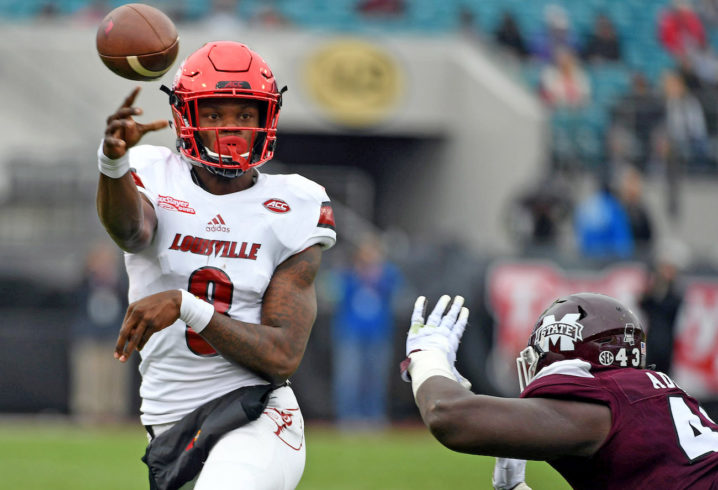 Former Heisman Trophy victor Lamar Jackson declares for 2018 NFL Draft