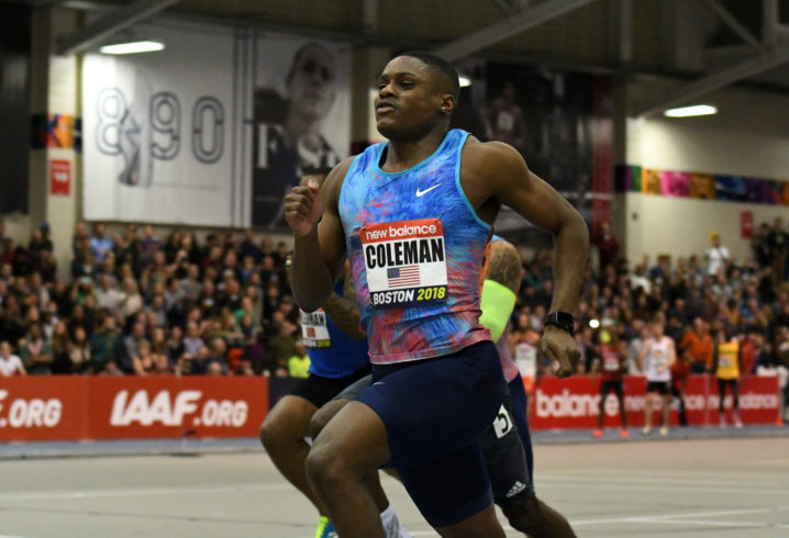Christian Coleman breaks 20-year-old 60m indoor world record