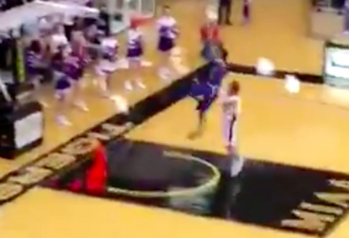Basketball: Dirty foul in high school basketball game goes viral