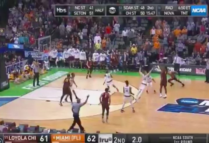 Loyola Chicago's Donte Ingram makes first buzzer-beater of NCAA Tournament